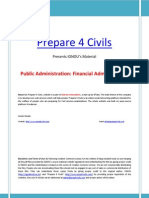 IGNOU's Public Administration material Part-5 Financial Administration