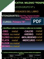 IDENTIFICACIÓN DE METALES Y NO METALES