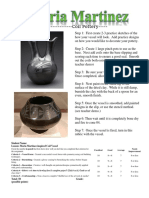 maria martinez pottery rubric