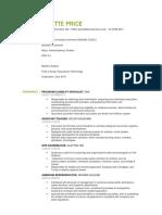 bridgette price resume