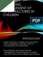Optimizing Management of Open Fractures in Children