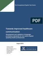 Elder C Et Al 2013 Towards Improved Healthcare