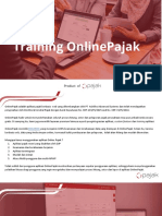 Training OnlinePajak Overview