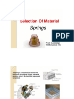 Selection of Material Springs