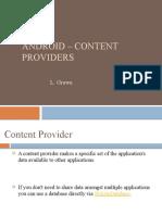 Android ContentProvider