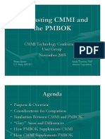 CMMI in Contrast to PMBOK