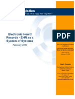 Electronic Health Records - EHR as a System of Systems - Clendenin 2010