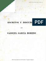 Escritos y Discursos de Gabriel García Moreno