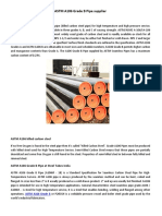 ASTM A106 Grade B Pipe Supplier | Steel Tubes India