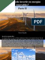 Nestor Chayelle - ¿Cómo Puedo Invertir en Energías Renovables?, Parte II