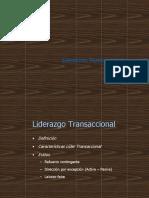 LIDERAZGO TRANSACCIONAL.