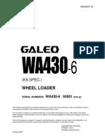 Komatsu WA430-6 Galeo Wheel Loader Service Repair Manual SN65001 and up.pdf