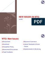 New Issues in WTO Unit#1