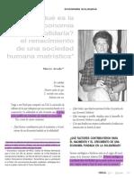 El Renacimiento de una Sociedad Humana Matrística