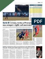 La Provincia Di Cremona 15-01-2019 - Serie B