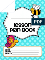 Lesson Plan Cover-Insect Theme