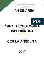 Plan de Área Tecnología e Informática Cer La Angelita 2017