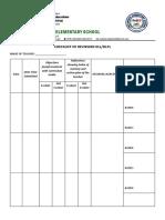 Checklist of Reviewed DLL