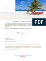 Job Ad Sun Aqua Vilu Reef 150119