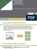 DOCUMENTOS MEDICO-LEGALES Y MALA PRAXIS MEDICA.pptx