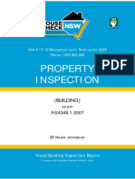 Pre Purchase Building And Pest Inspection Sample Report - Housecheck NSW