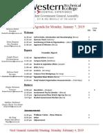 general assembly agenda january 7 2019