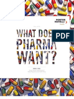 What Does Pharma Want