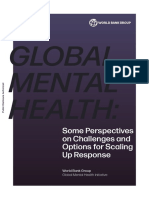 Global Mental Health - Some Perspectives on Challenges and Options for Scaling Up Response