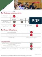 Tarifs CNAM 2018-2019