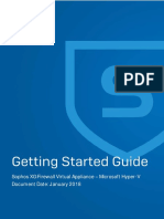 Sophos XG Firewall Virtual Appliance - Getting Started Guide - Hyper-V