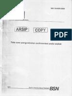 SNI-19-6459-2000 Tata Cara Pengontrolan Sedimentasi Pada Waduk