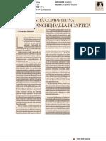 L'Università competitiva riparte (anche) dalla didattica - Il Sole24ore del 15 gennaio 2019