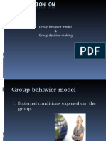 Group Behaviour Model & Group Decesion Making.