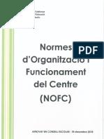 NOFC (Normes d'Organització i Funcionament del Centre) de l'Escola Elisa Badia