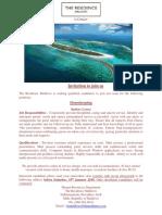 Advert - 15 January 2019 - Job Maldives