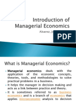 Introduction of Managerial Economics