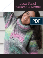 NORO - Nadeshiko Lace Panel Sweater & Muffle Y-961.8462