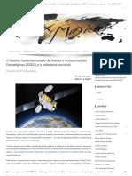 O Satélite Geoestacionário de Defesa e Comunicações Estratégicas (SGDC) e a Soberania Nacional – VOX MAGISTER