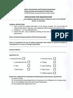 PAGCOR App Reg Form