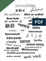 Bienvenido en Varios Idiomas