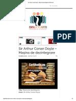 Sir Arthur Conan Doyle - Mașina de Dezintegrare _ Bibliocarti
