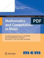 Maths applied to music