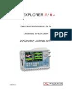 Manual Promax TVExplorer2