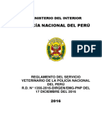 Regflamento Dels Ervicio Veterinario Pnp