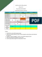 Jadwal Mata Pelajaran 3b