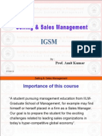 SSM-Lecture-03 (Introduction to Sales Management)