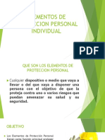 Elementos de Proteccion Personal Individual