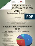 Budgets des départements
