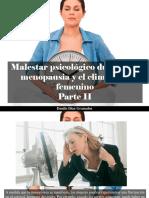 Danilo Díaz Granados - Malestar Psicológico Durante La Menopausia y El Climaterio Femenino, Parte II
