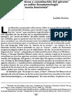 Butler - Actos Performativos y Constitucion Del Genero
